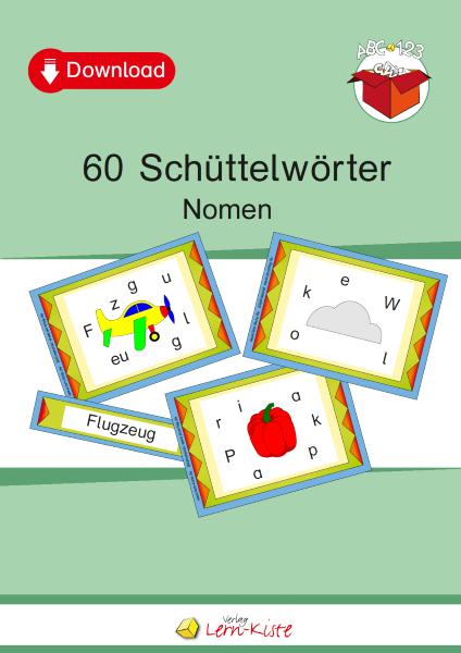 Nomen, Purzelwörter, Buchstaben, Schüttelwörter