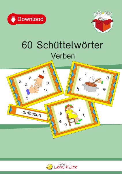 Verben, Purzelwörter, Buchstaben, Schüttelwörter