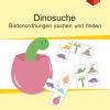 Konzentration, Wahrnehmung, Ausdauer, Freiarbeitsmaterial, Bildanordnungen, Dinos, Dinosaurier