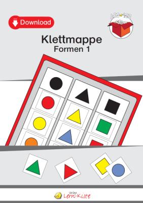 TEACCH, TEACCH Arbeitsmappe, TEACCH Klettmappe, TEACCH-Ansatz, Farben, Formen, geometrische Formen, Farbunterscheidung, Formunterscheidung, Motorik, Auge-Hand-Koordination