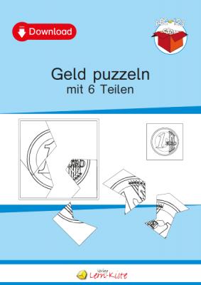 Geld, Euro, Münzen, Scheine, Puzzle