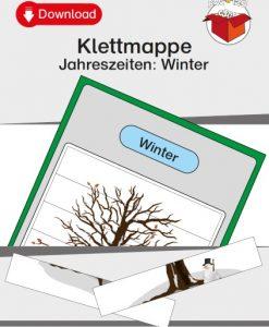 TEACCH, Arbeitsmappe, Klettmmappe, strukturierte Arbeitsmappe, Jahreszeiten