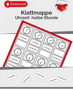 TEACCH, TEACCH Arbeitsmappe, TEACCH Klettmappe, TEACCH-Ansatz, Uhrzeit, Motorik, Auge-Hand-Koordination