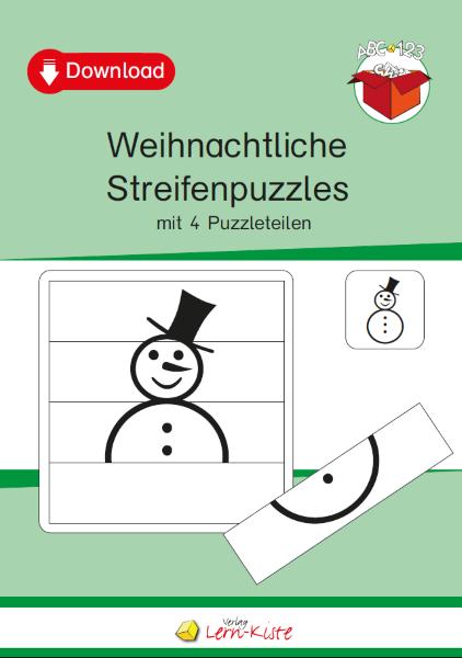 Weihnachtliche Streifenpuzzles - Lern-Kiste Unterrichtsmaterial ...