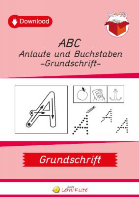 ABC, Anlaute, Grundschrift, Buchstaben, Anfangsunterricht