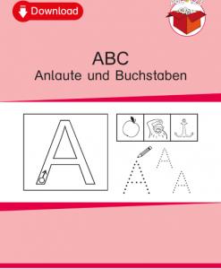 Anlaute, ABC, Buchstaben, Alphabet, Lernheft, Arbeitsheft, Anfangsunterricht, Fördermaterial