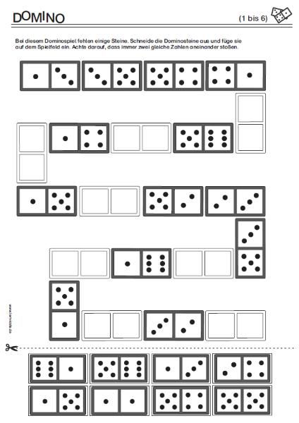 ZR 1 bis 6, Zahlenraum 1 bis 6