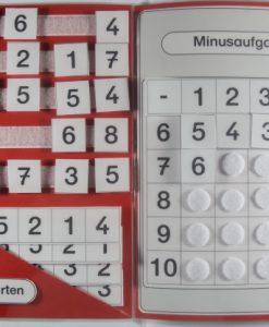 Minus, ZR 10, Zahlenraum 10, Subtraktion, TEACCH