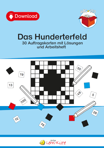Hunderterfeld, Hundertertafel, ZR 100, Zahlenraum 100
