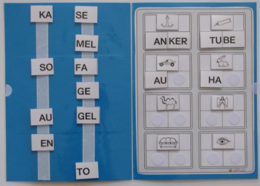 TEACCH, Silben, Wörter, Synthese, Grossbuchstaben