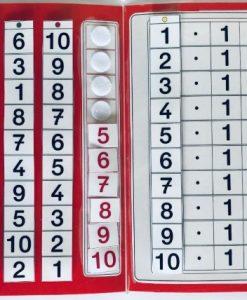 TEACCH, Multiplikation, ZR 100, Zahlenraum 100, Einmaleins, Kleines Einmaleins, 1er Reihe