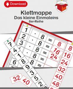TEACCH, Multiplikation, ZR 100, Zahlenraum 100, Einmaleins, Kleines Einmaleins, 8er Reihe