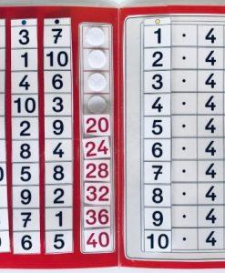 TEACCH, Multiplikation, ZR 100, Zahlenraum 100, Einmaleins, Kleines Einmaleins, 4er Reihe