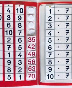 TEACCH, Multiplikation, ZR 100, Zahlenraum 100, Einmaleins, Kleines Einmaleins, 7er Reihe