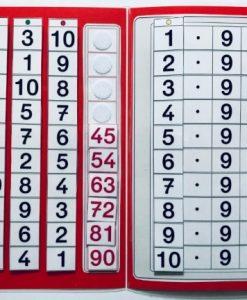 TEACCH, Multiplikation, ZR 100, Zahlenraum 100, Einmaleins, Kleines Einmaleins, 9er Reihe